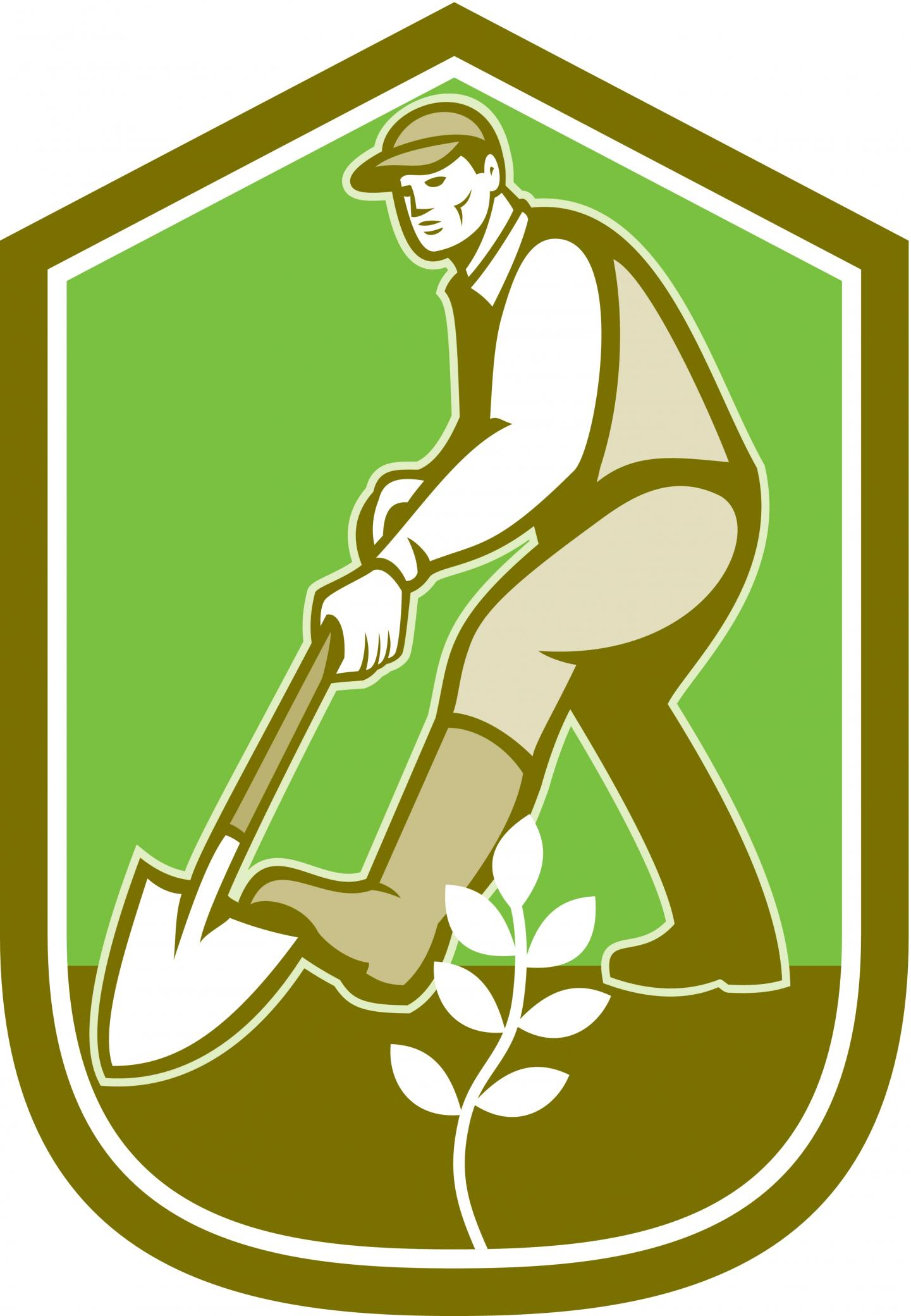 landscaper doing work logo